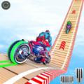 機器人摩托車特技游戲